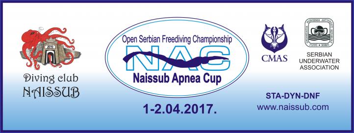 NAISSUB APNEA CUP 2017 - otvoreno prvenstvo Srbije