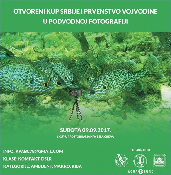 Podvodna fotografija - otvoreni kup Republike Srbije i prvenstvo Vojvodine