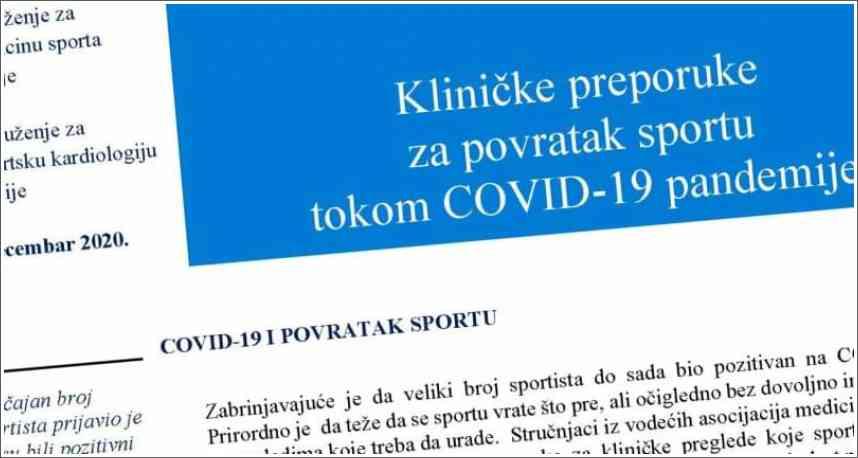 COVID-19 I POVRATAK SPORTU