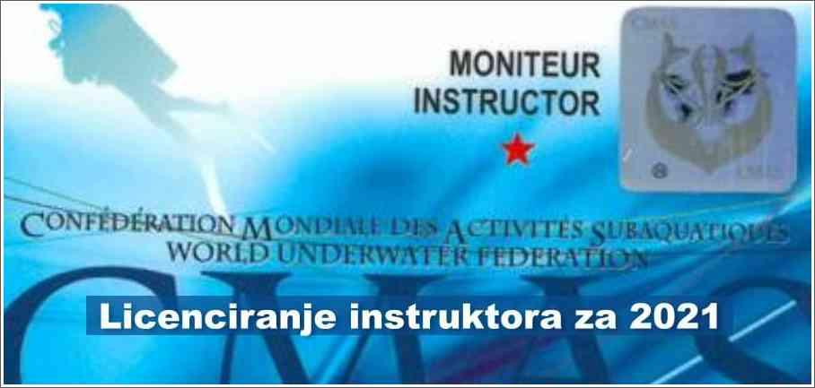 Licenciranje instruktora za 2021. godinu